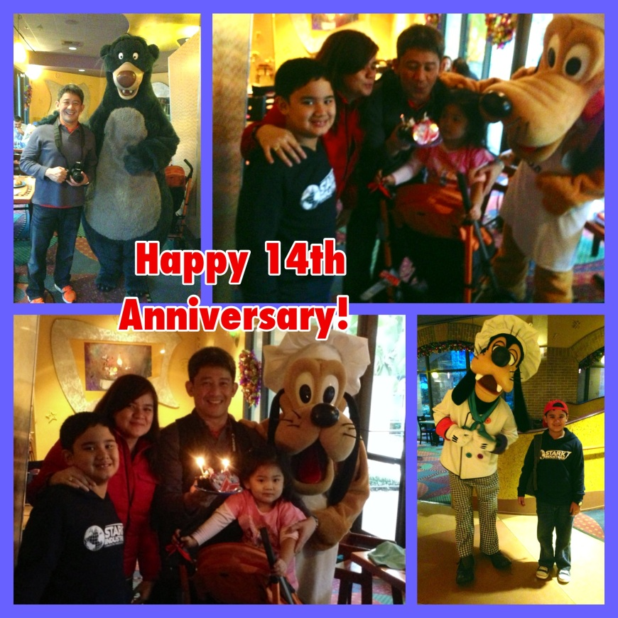 This is the second time we spent our wedding anniversary in Disneyland. Last year we were in Disneyland Hong Kong.