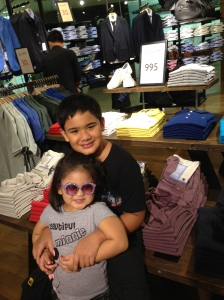 I involve the kids in everything! ... Even shopping for Daddy's birthday gifts!
