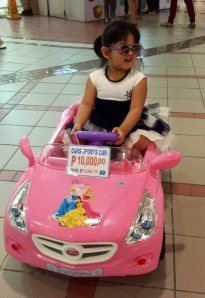 She wanted a Disney Princess sports car for her birthday... Perhaps when you become Queen someday :)