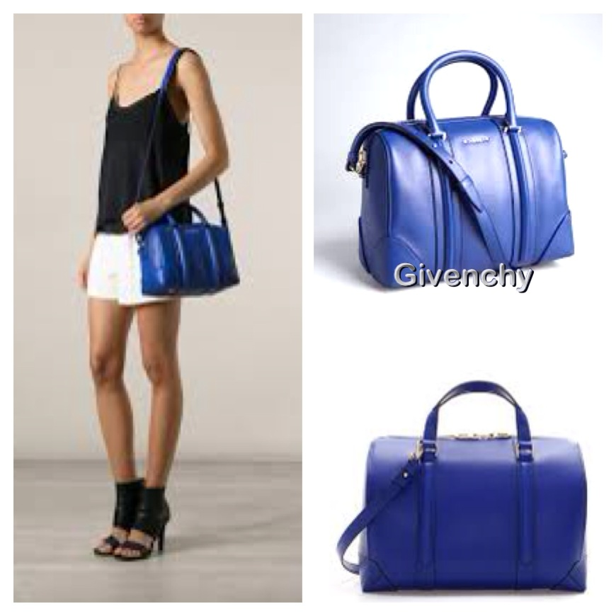 Zara blue daffel bag