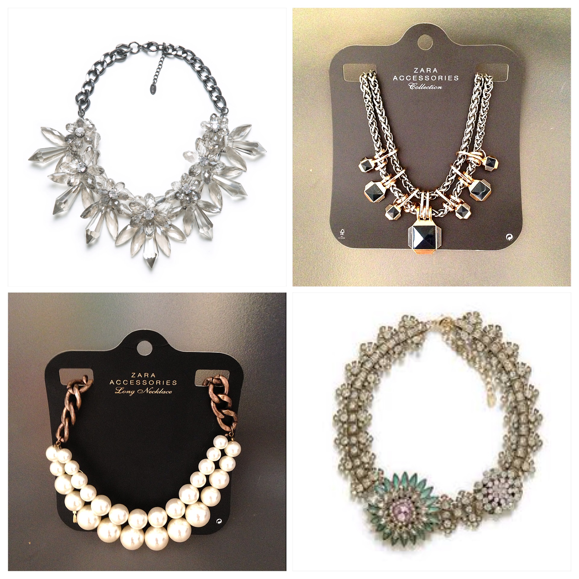 ZARA statement necklaces